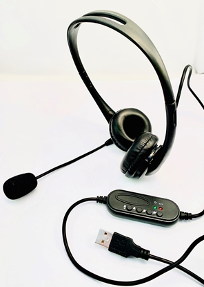 Picture of FoneTech USB 1 Binaural Headset -P/N FTUSB01